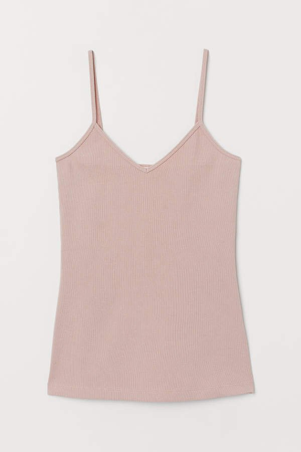 V-neck Camisole Top - Beige