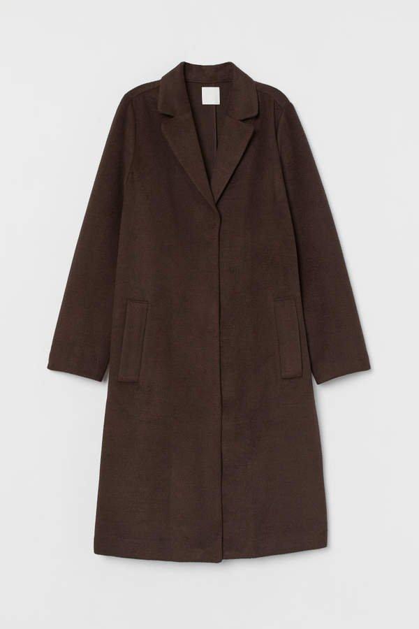 Straight-cut Coat - Brown