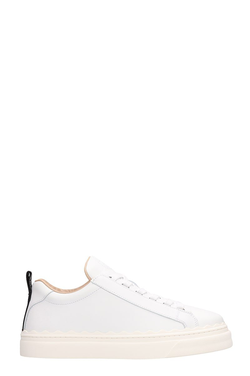 Chloé White Leather Sneakers