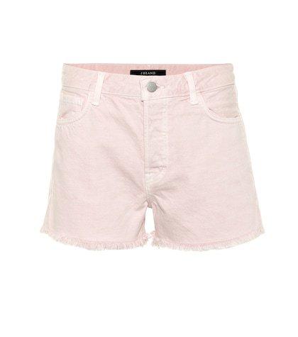 Gracie high-rise denim shorts
