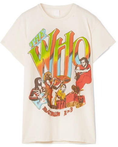 The Who Distressed Printed Cotton-jersey T-shirt - White