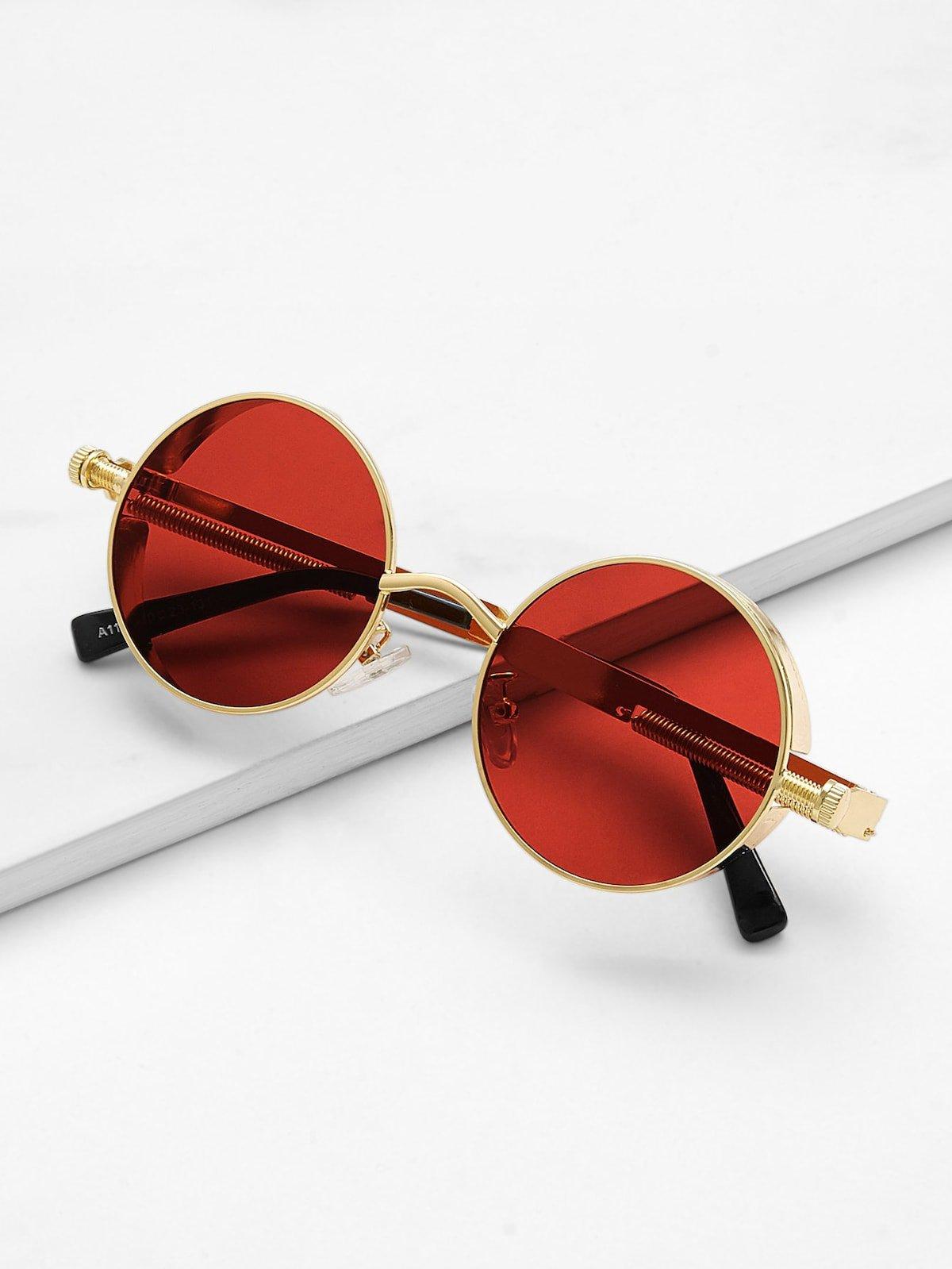 Metal Frame Round Lens Sunglasses | ROMWE