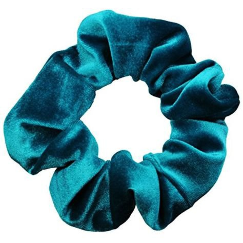 blue velvet png filler scrunchie