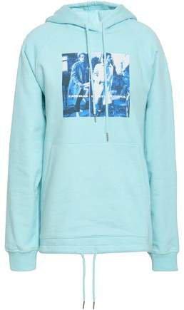 Printed Cotton-fleece Hooded Sweatshirt
