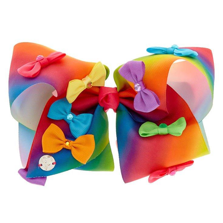 JoJo Siwa™ Large Rainbow Bow Power Hair Bow | Claire's US