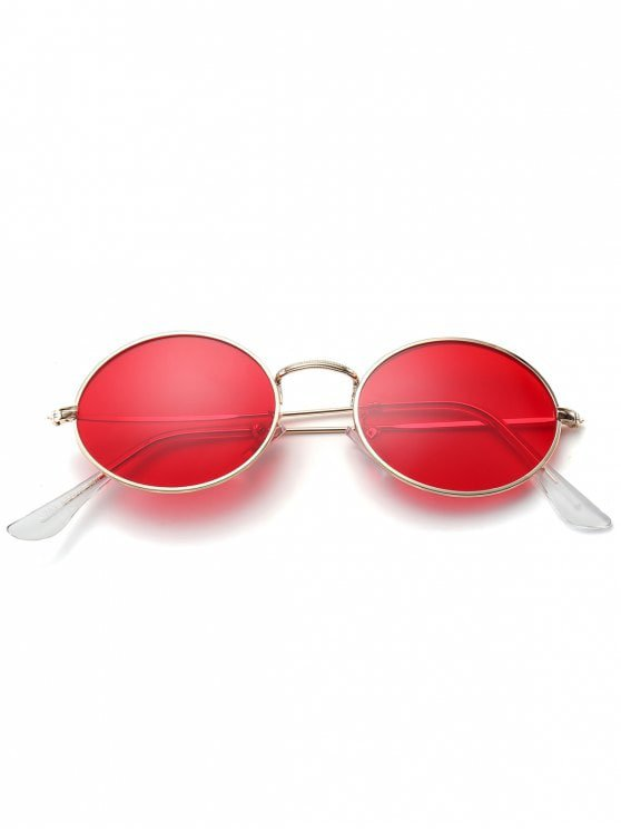 [43% OFF] 2019 Oval UV Protection Sunglasses In RED | ZAFUL English