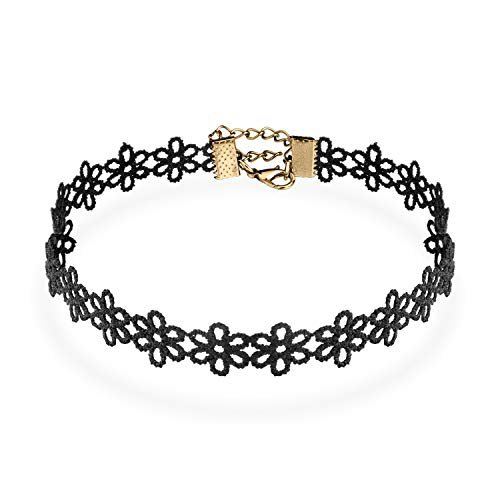 Amazon.com: UHIBROS Choker Necklace, Black Flower Lace Choker with Punk Gothic Fashion Jewelry: Jewelry