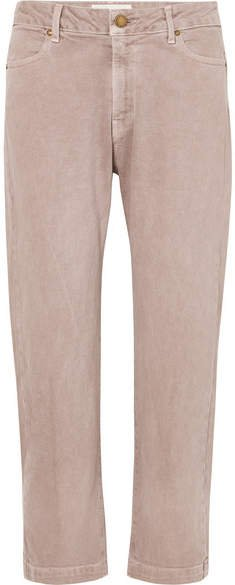 The Rambler Cropped High-rise Jeans - Pink