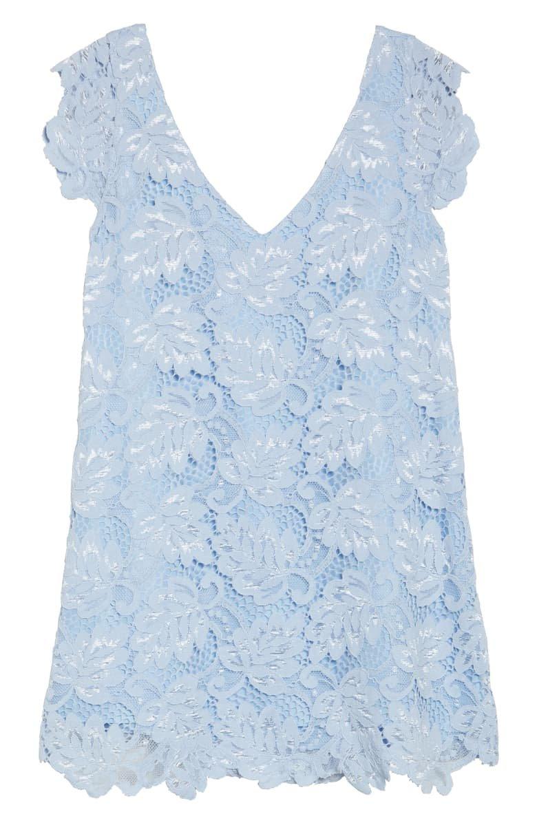 BB Dakota Jacqueline Lace Shift Dress Blue