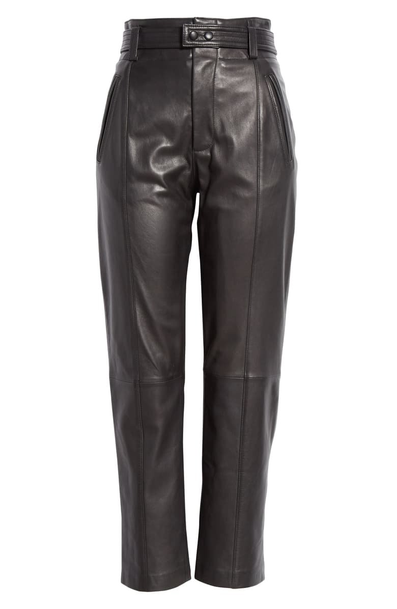 Joie Trula Belted High Waist Leather Pants | Nordstrom