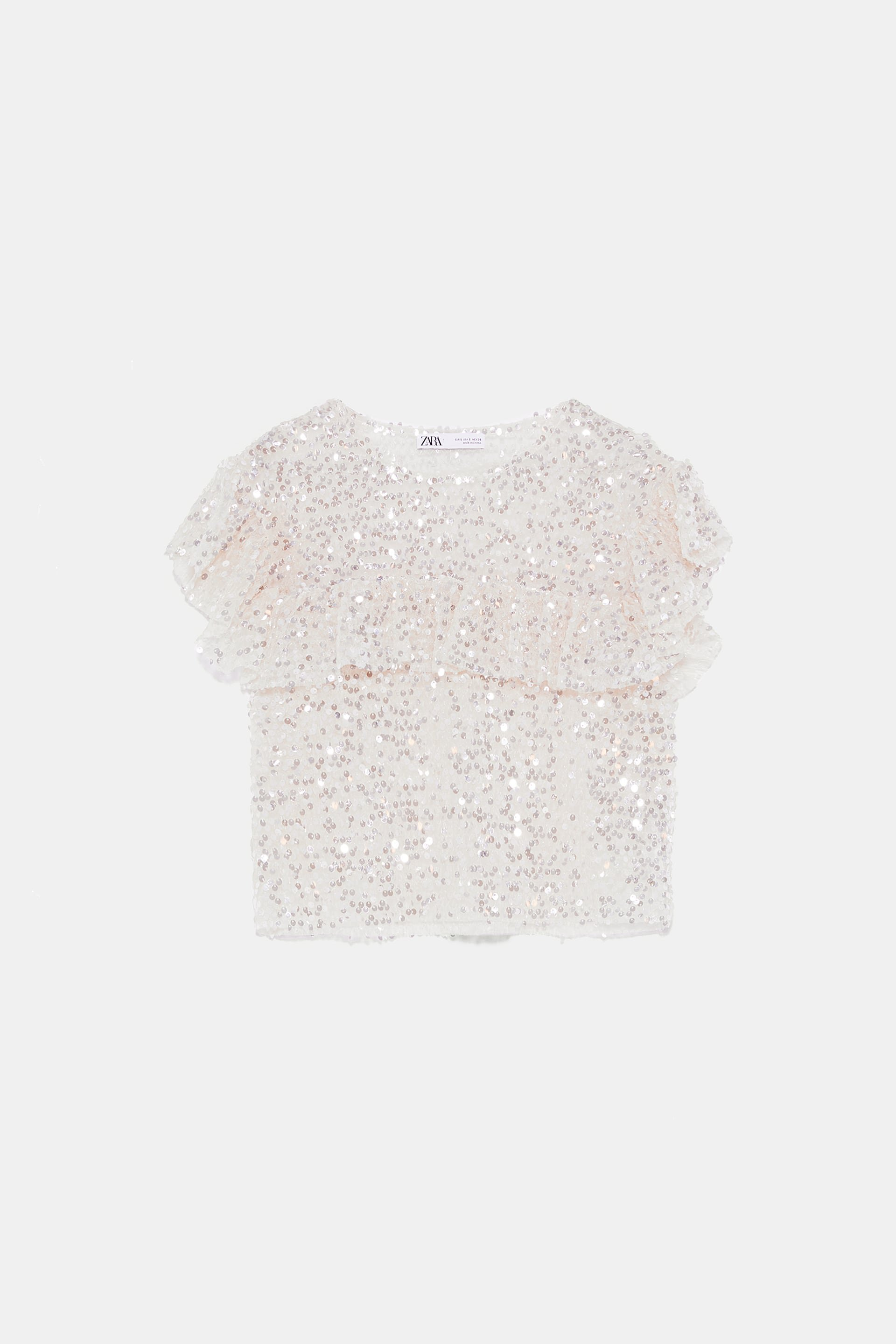 RUFFLED SEQUIN TOP - View all-KNITWEAR-WOMAN | ZARA United States