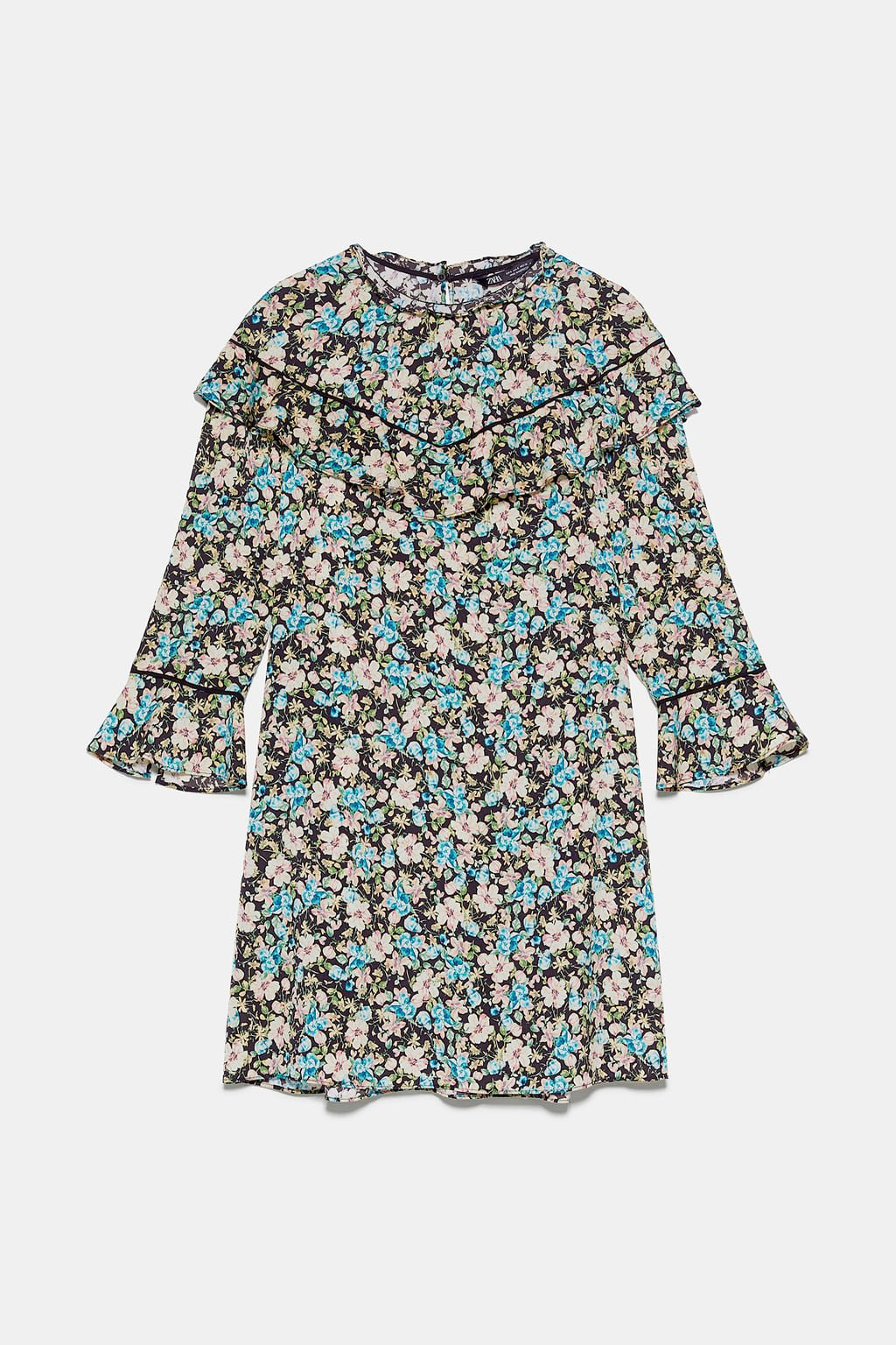 FLORAL PRINT DRESS - NEW IN-WOMAN | ZARA United States blue