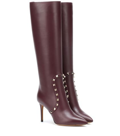 Valentino Garavani knee-high leather boots