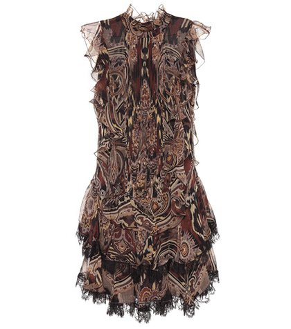 Paisley silk chiffon dress