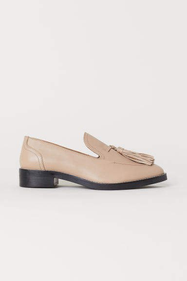Tasseled Loafers - Beige