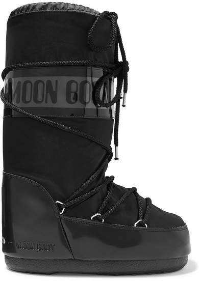 Shell And Rubber Snow Boots - Black