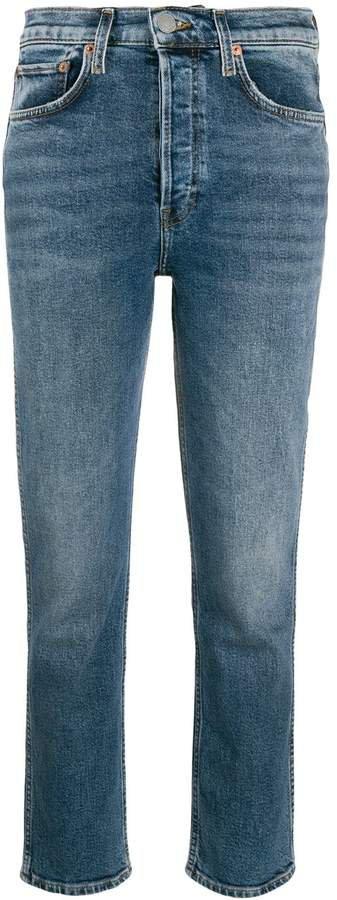 mid rise slim fit jeans