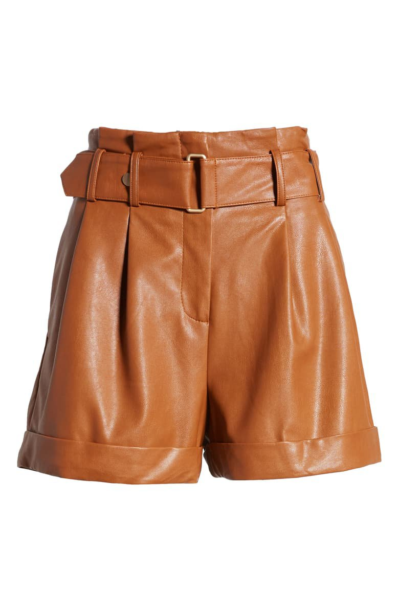 J.O.A. Faux Leather Shorts   Nordstrom