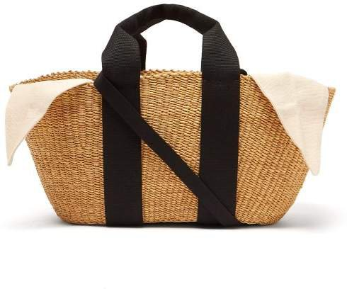 George Woven Straw Tote Bag - Womens - Cream