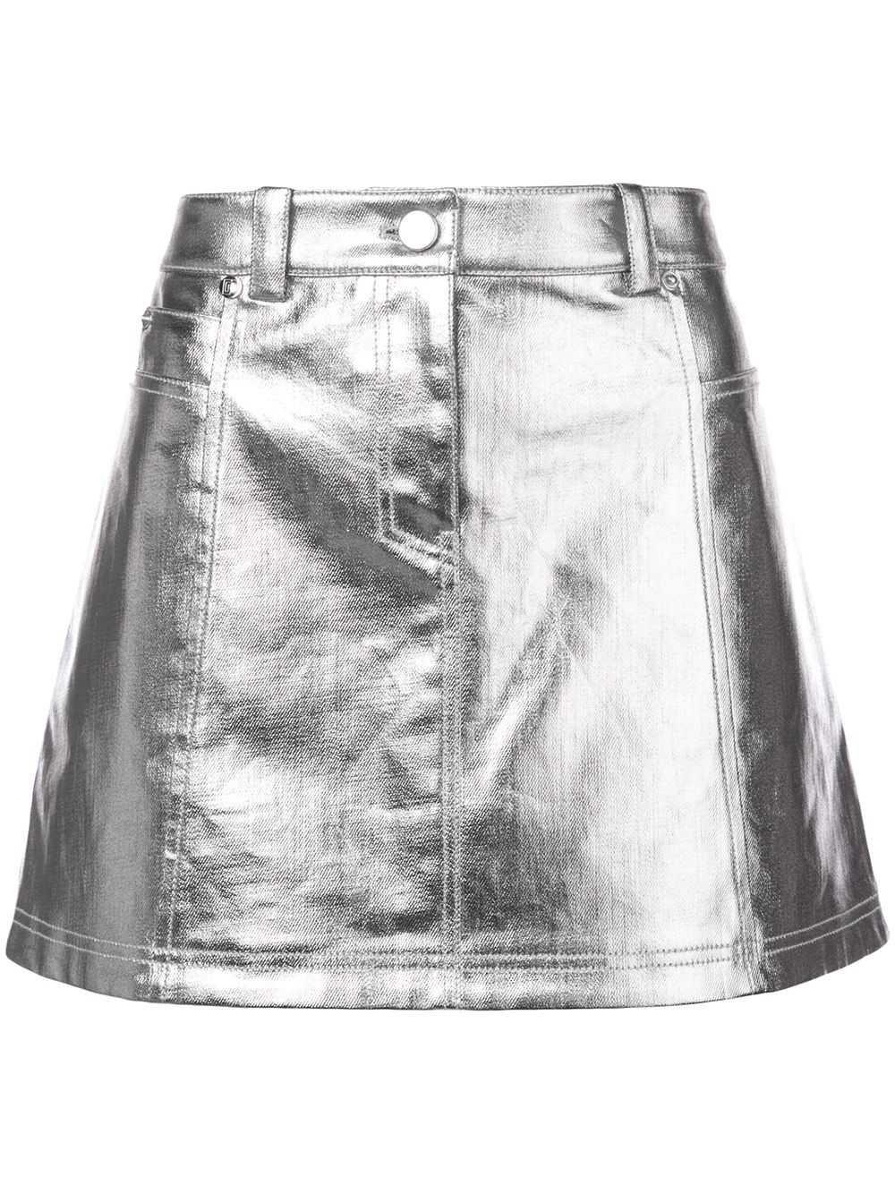 Paco Rabanne Metallic Mini Skirt - Farfetch