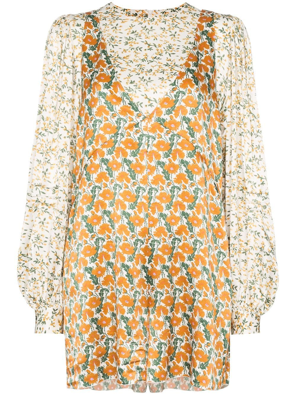 Rotate Floral Print Playsuit - Farfetch