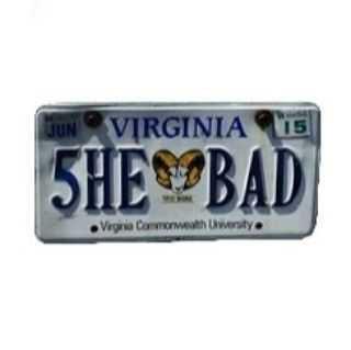 she bad license plate