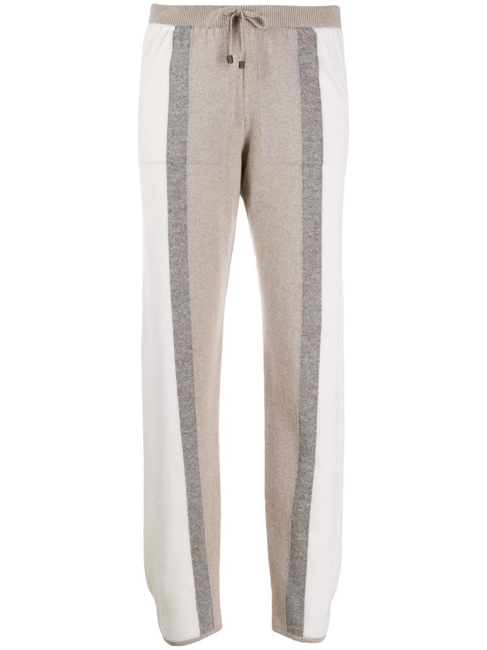 Lorena Antoniazzi Striped Knit Trousers - Farfetch