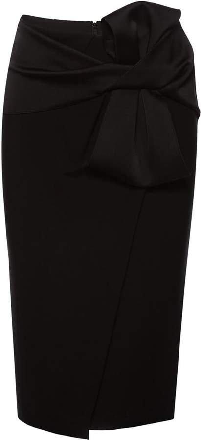 Nissa Midi Skirt With Waist Bow