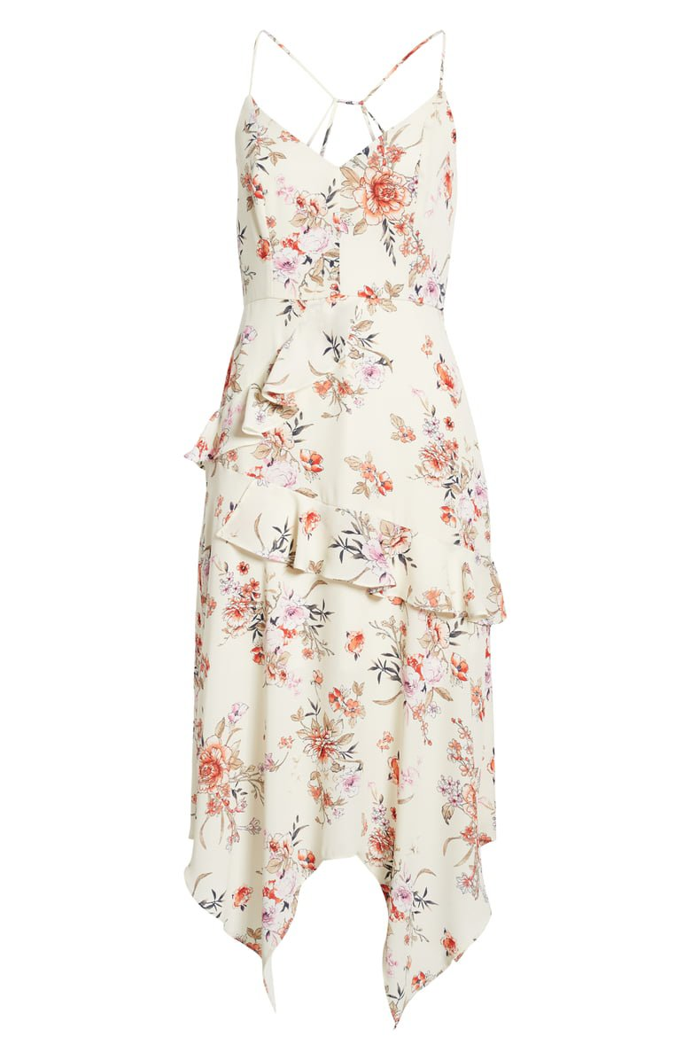 Row A Side Ruffle Maxi Dress | Nordstrom