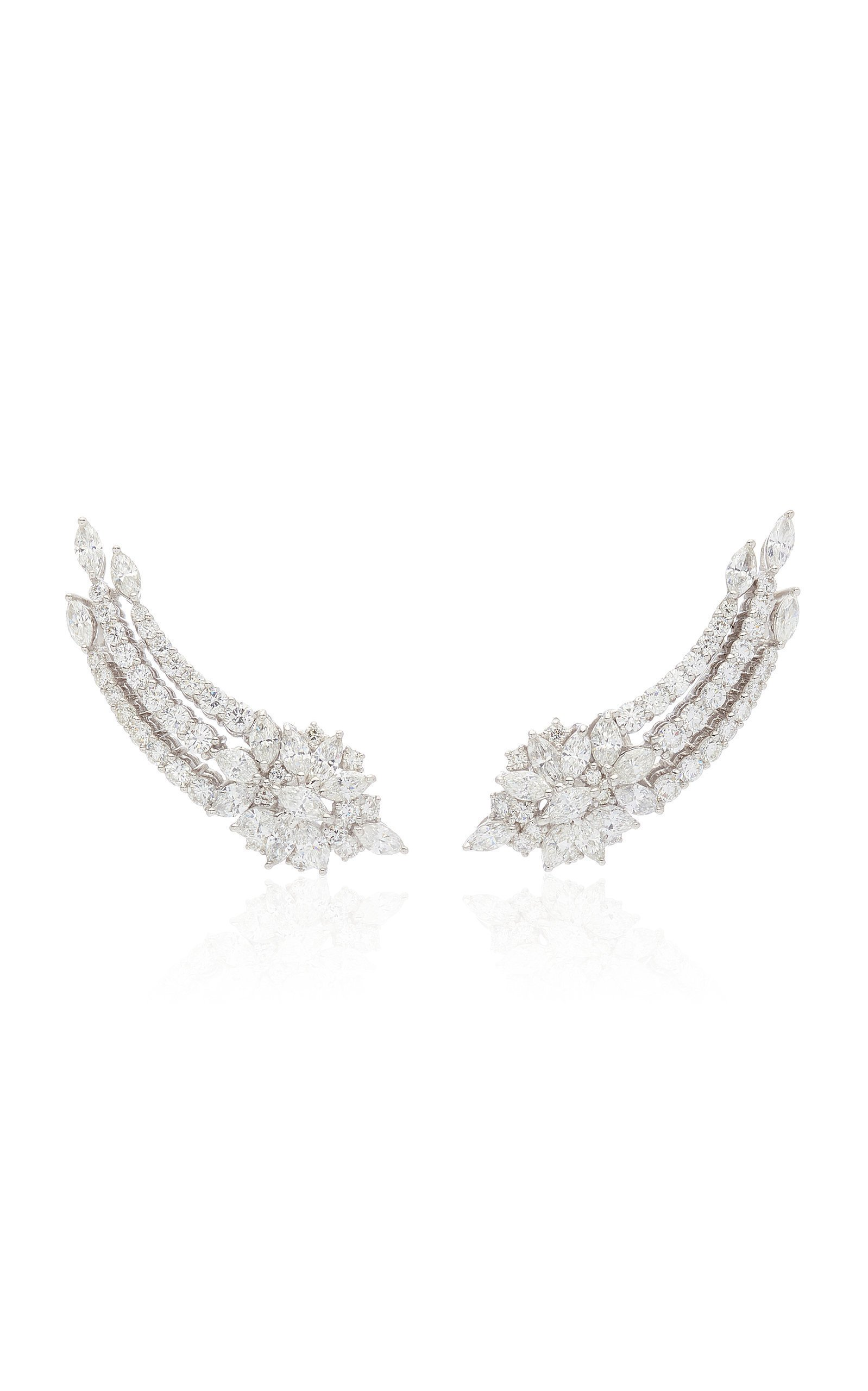 Yeprem 18K White Gold Y-Not Earrings