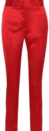 Satin-crepe Slim-leg Pants