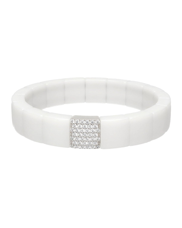 Roberto Demeglio White Ceramic 1-Row Bracelet