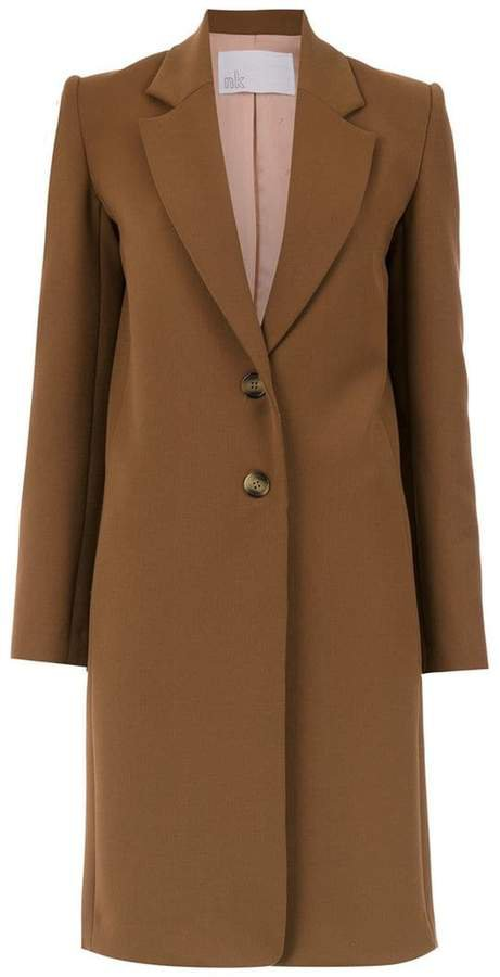 Nk buttoned trench coat