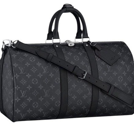 Louis Vuitton Keepall Bandouliere Black Grey Mono Eclipse Canvas Weekend/Travel Bag - Tradesy