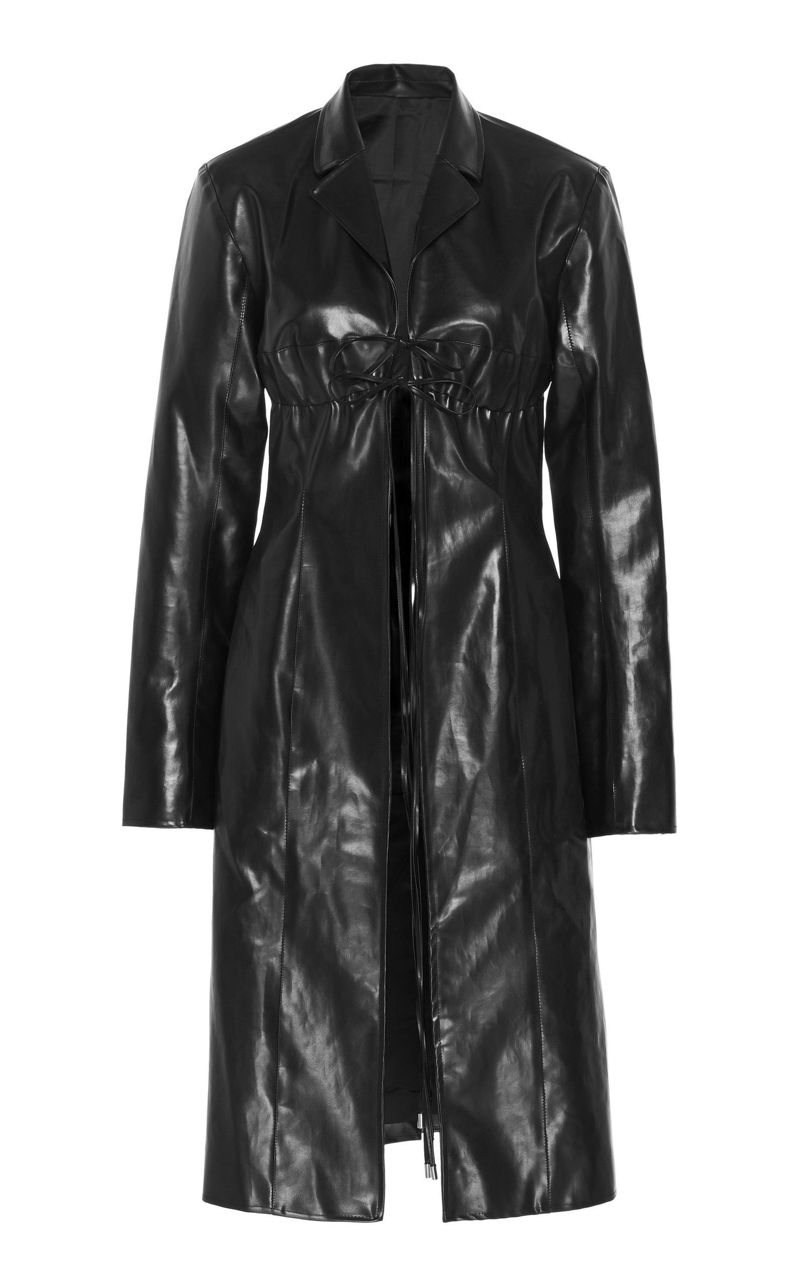 Supriya Lele Vinyl Trench Coat Size: XL