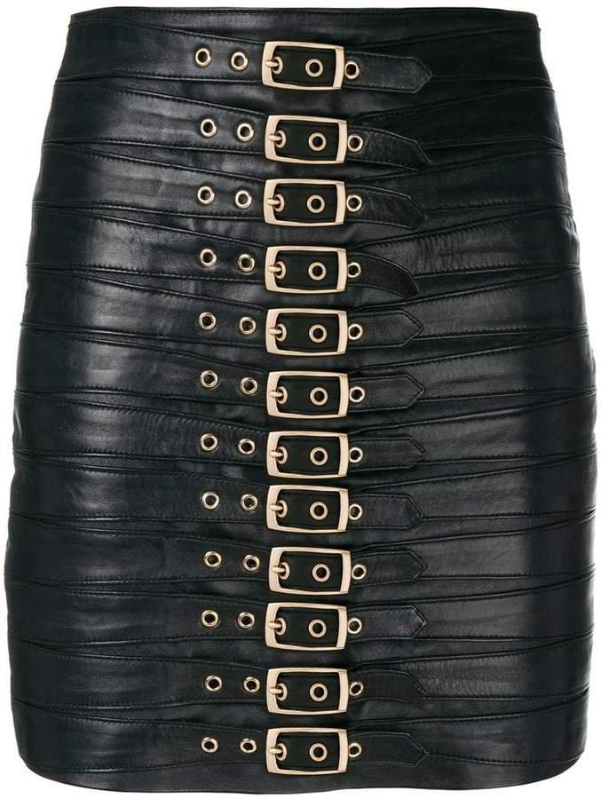 Manokhi buckled mini skirt
