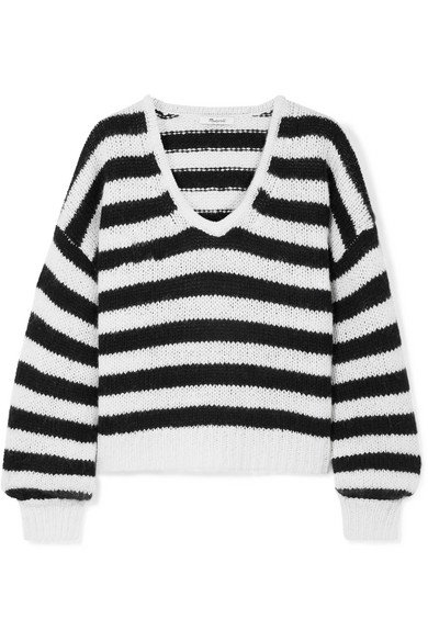 Madewell | Striped knitted sweater | NET-A-PORTER.COM