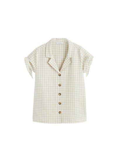 Violeta BY MANGO Print bow blouse