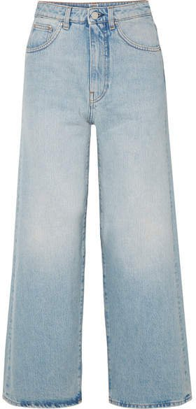 Flair High-rise Wide-leg Jeans - Light denim