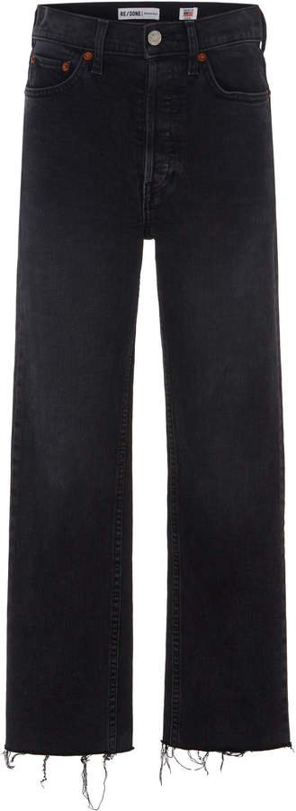 Stovepipe Cropped High-Rise Jeans