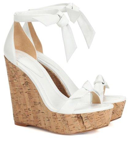 Clarita 120 leather wedge sandals
