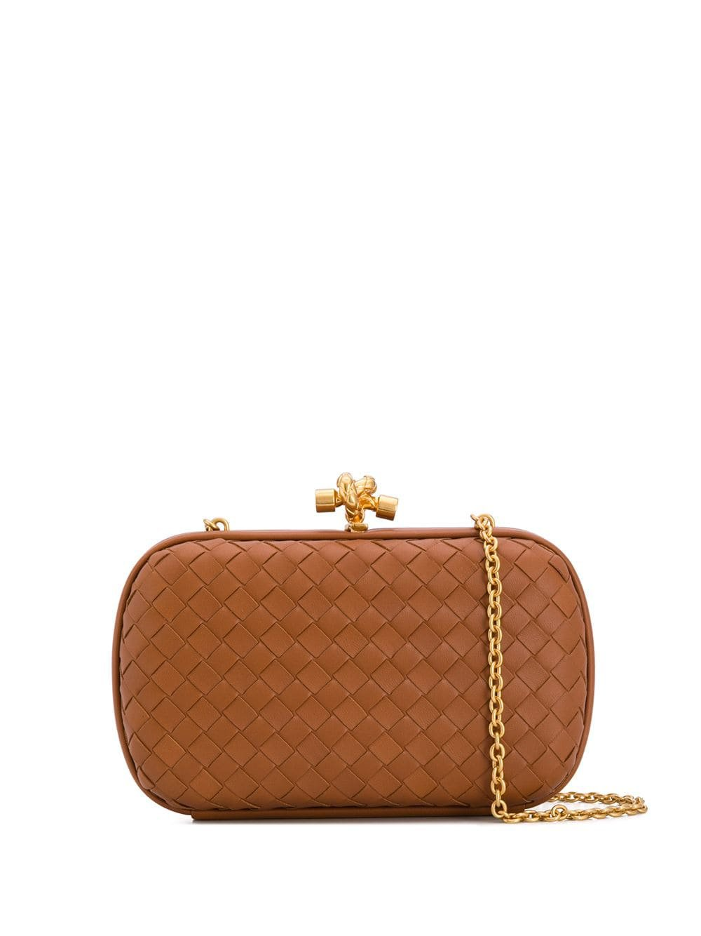 Bottega Veneta Knotted Chain Intrecciato Clutch - Farfetch