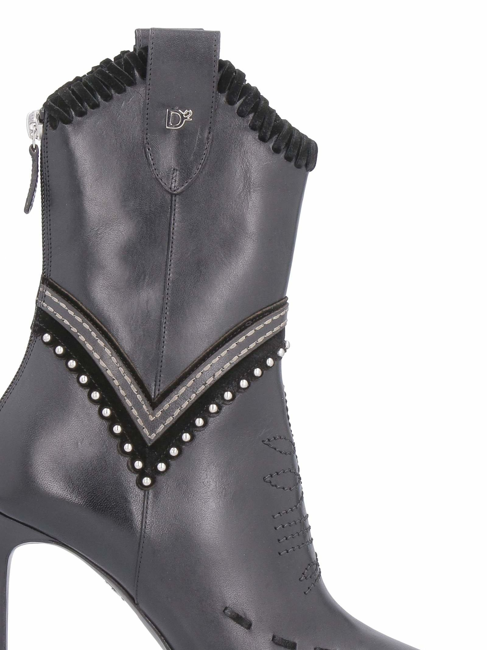 Dsquared2 Leather Pointy-toe Ankle-boots