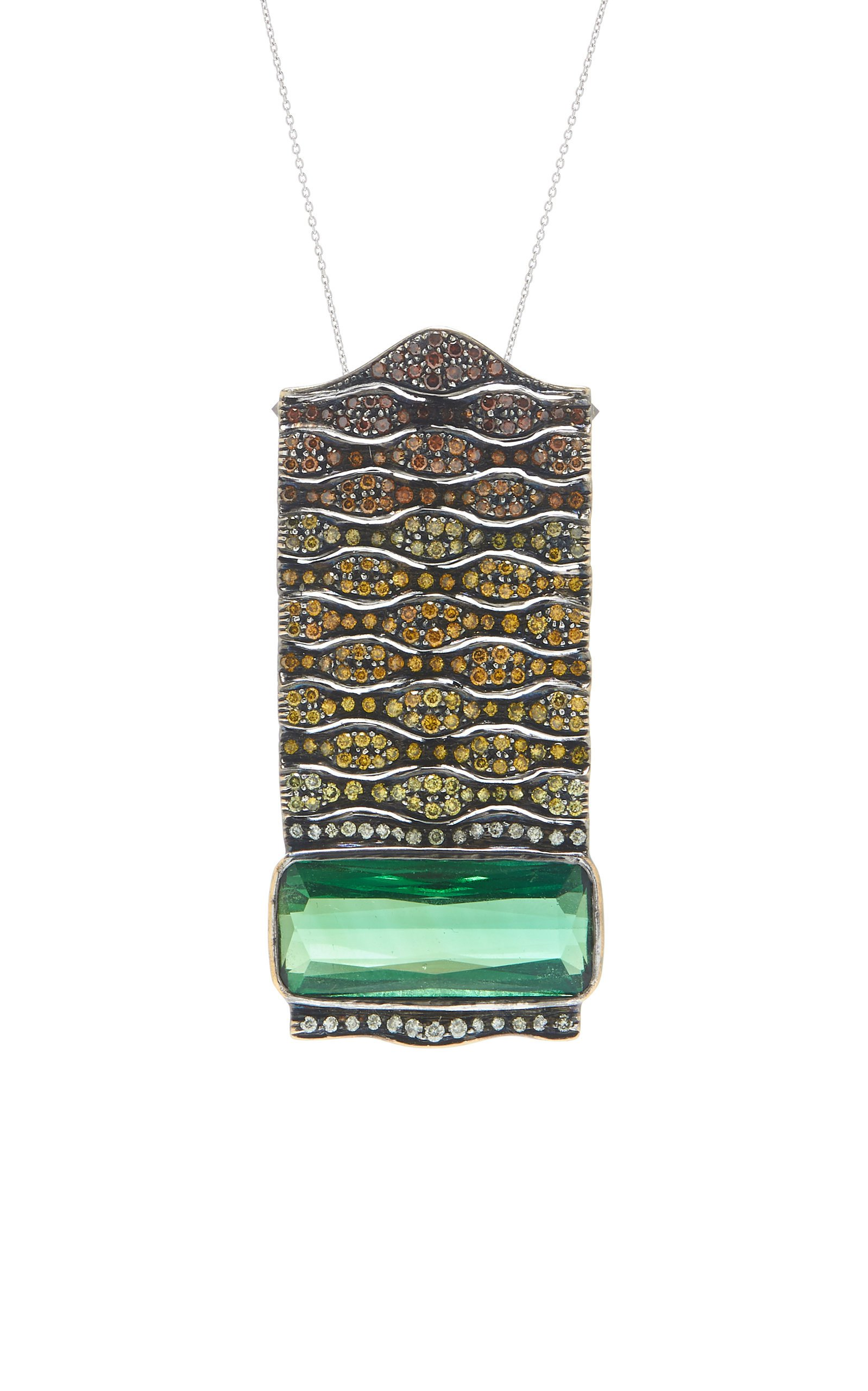Amrapali Tourmaline and Diamond Pendant