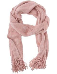 Winter shawl scarf pink