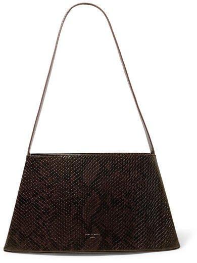 LOW CLASSIC - Curve Snake-effect Leather Shoulder Bag - Snake print