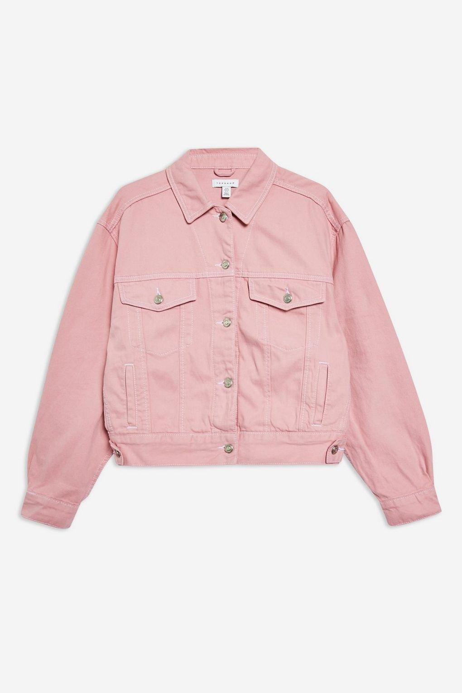 Sugar Pink Denim Jacket - Jackets & Coats - Clothing - Topshop USA
