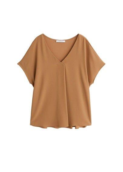 Violeta BY MANGO  Wrap v-neckline t-shirt