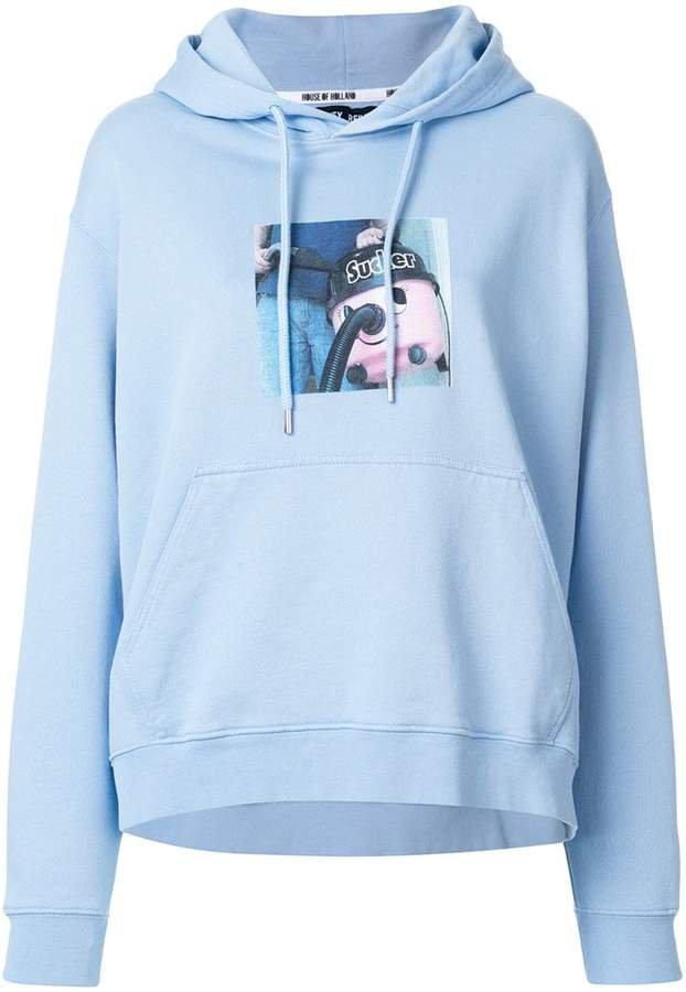 sweeper print hoodie