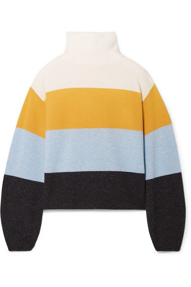 Veronica Beard | Faber oversized striped cashmere turtleneck sweater | NET-A-PORTER.COM